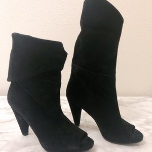 Vince Camuto open toe suede boots